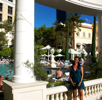 Bellagio pool side!